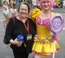 Icon Jessica is Candy Girl in Universal All Star Parade